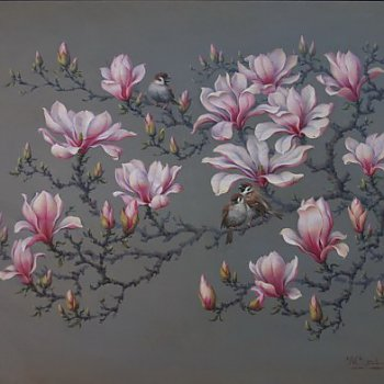 Magnolia and Birds
